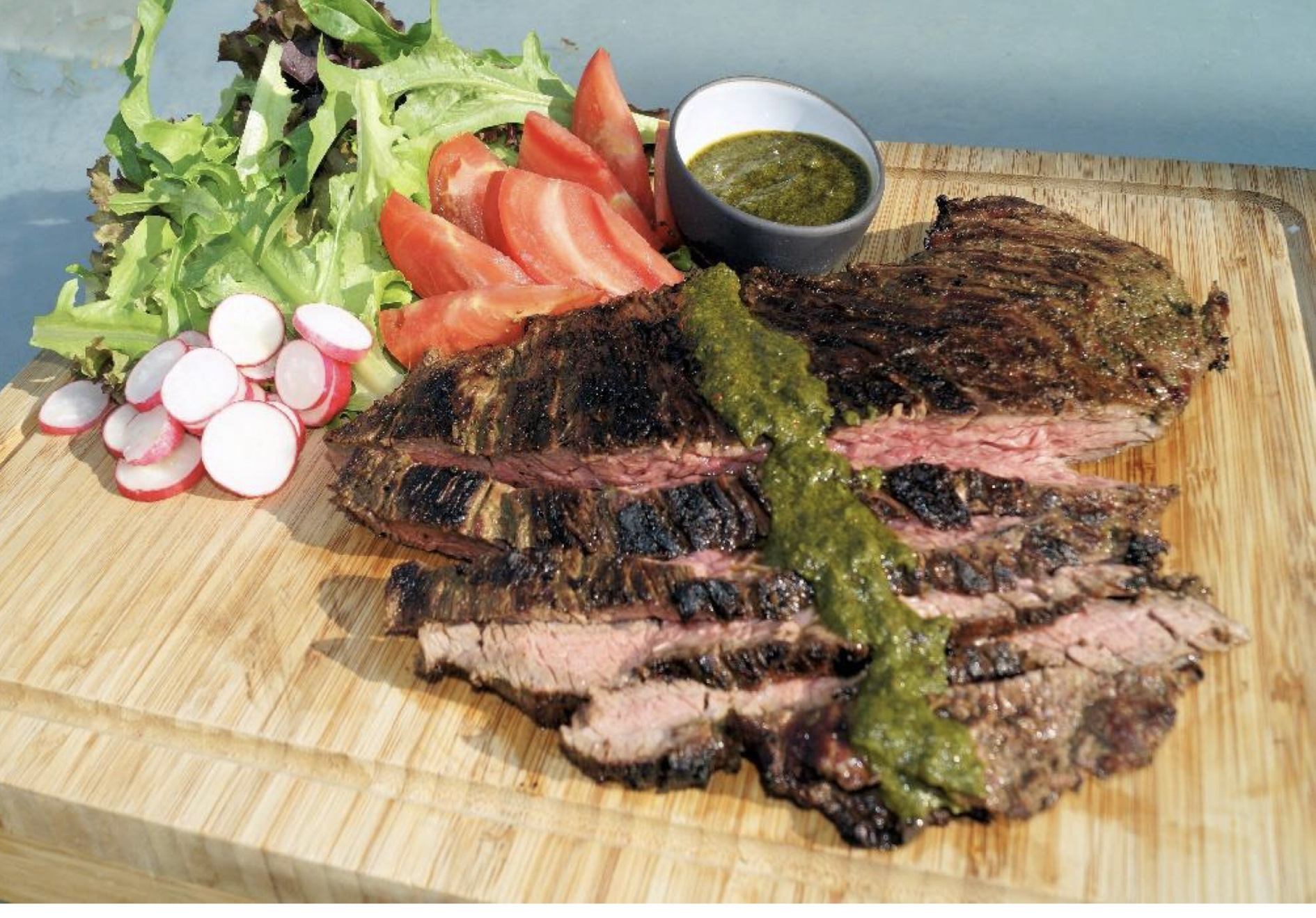 Char-Grilled Bavette with Chimichurri Sauce