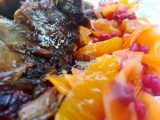 Moroccan Pulled Lamb with an Orange, Carrot & Pomegranate Salad