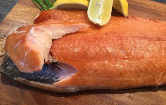 Rum Soaked Hot Smoked Salmon